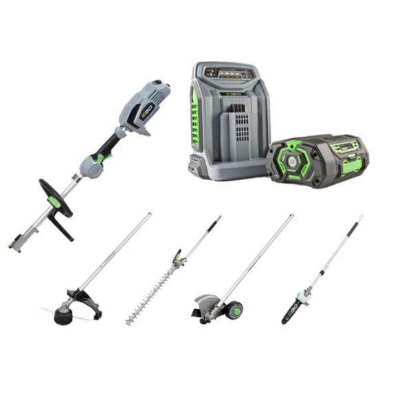 EGO MHSC 2002E Multi Tool eszköz fej+4 eszköz (akku+gép+töltő)
