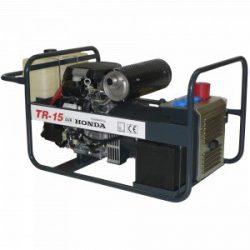 TR-15 AVR áramfejlesztő GX-690 motorral (háromfázisú) +  MPG 13 ELEKTR. FŰNYÍRÓ